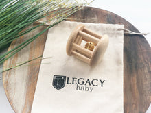 Load image into Gallery viewer, Wooden Bell Cylinder Roller Toy by Legacy Learning Academy