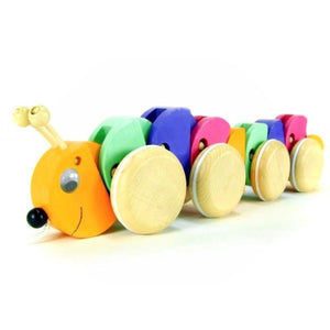 ABAfactory Pull-along Caterpillar - Wood Wood Toys Canada's Favourite Montessori Toy Store