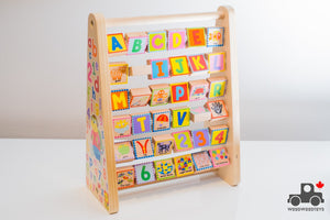 ALEX Toys Early Learning ABC/123 First Words Board - Wood Wood Toys Canada's Favourite Montessori Toy Store