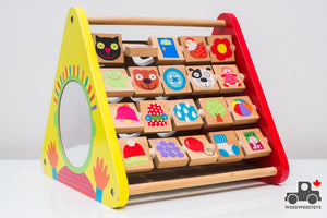 ALEX Toys Early Learning Busy Toy Activity Centre - Wood Wood Toys Canada's Favourite Montessori Toy Store