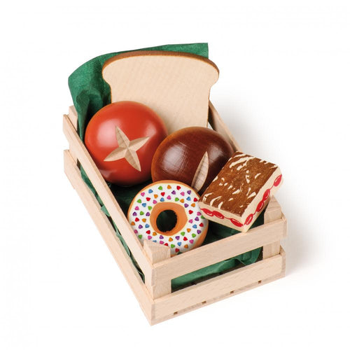 Assorted Baked Goods (Small) - Play Food Made in Germany - Wood Wood Toys Canada's Favourite Montessori Toy Store