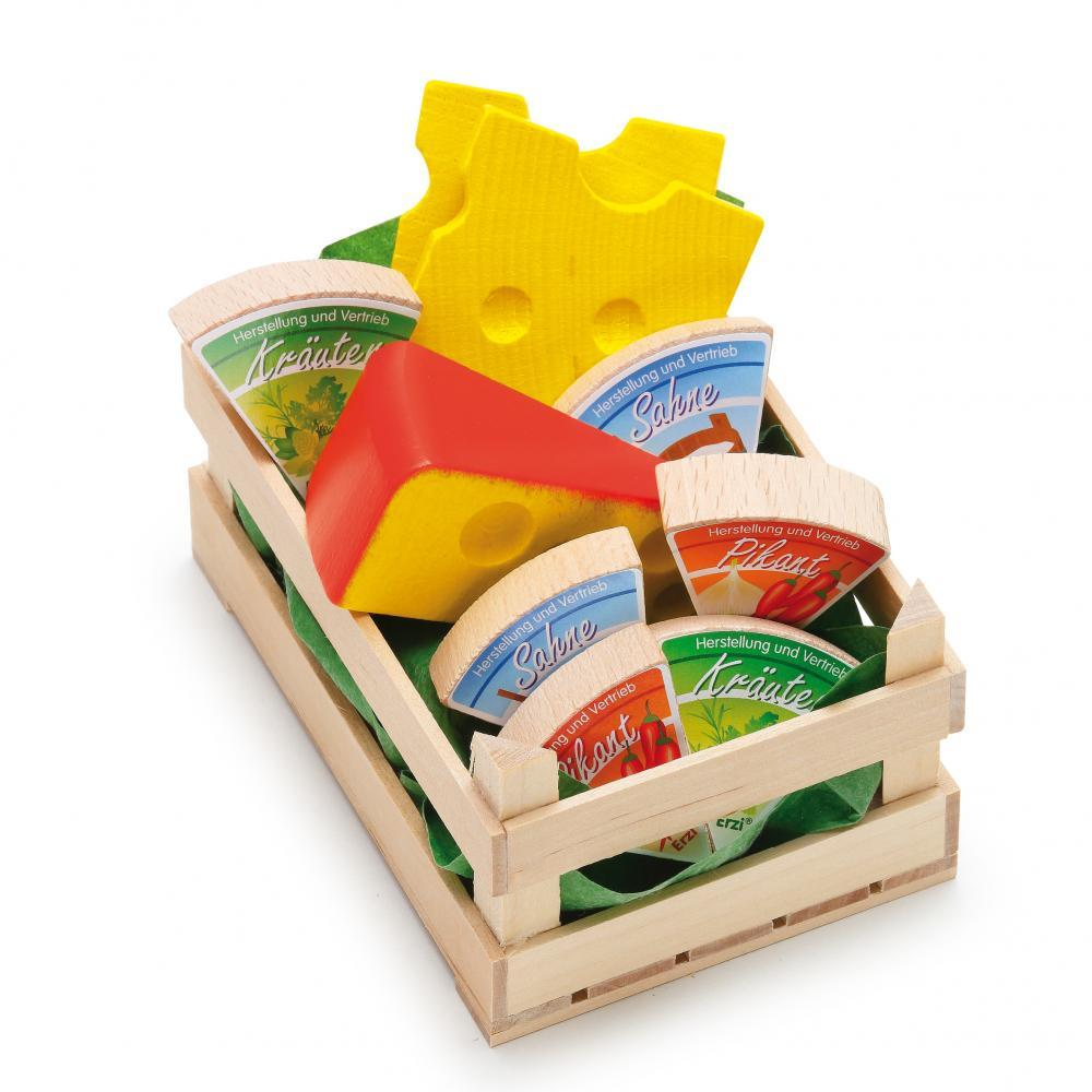 Assorted Wooden Cheese (Small) - Play Food Made in Germany - Wood Wood Toys Canada's Favourite Montessori Toy Store
