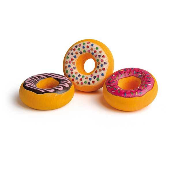 Assorted Wooden Doughnuts (Set of 3) - Play Food Made in Germany - Wood Wood Toys Canada's Favourite Montessori Toy Store