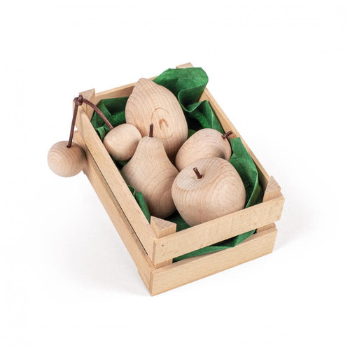 Assorted Wooden Natural Fruits (Small) - Play Food Made in Germany - Wood Wood Toys Canada's Favourite Montessori Toy Store