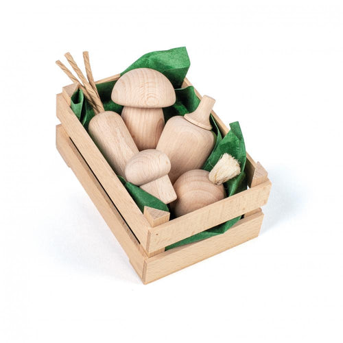 Assorted Wooden Natural Vegetables (Small) - Play Food Made in Germany - Wood Wood Toys Canada's Favourite Montessori Toy Store