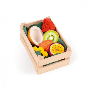 Assorted Wooden Tropical Fruits (Small) - Play Food Made in Germany - Wood Wood Toys Canada's Favourite Montessori Toy Store
