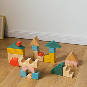 Avdar Building Blocks (Set of 23) - Wood Wood Toys Canada's Favourite Montessori Toy Store