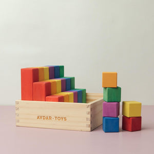 Avdar Counting Blocks (Set of 24) - Wood Wood Toys Canada's Favourite Montessori Toy Store