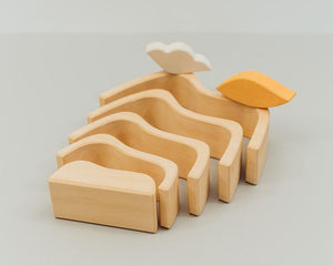 Avdar Mountain Sun and Cloud Stacker - Wood Wood Toys Canada's Favourite Montessori Toy Store