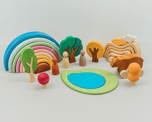 Load image into Gallery viewer, Avdar Mountain Sun and Cloud Stacker - Wood Wood Toys Canada's Favourite Montessori Toy Store