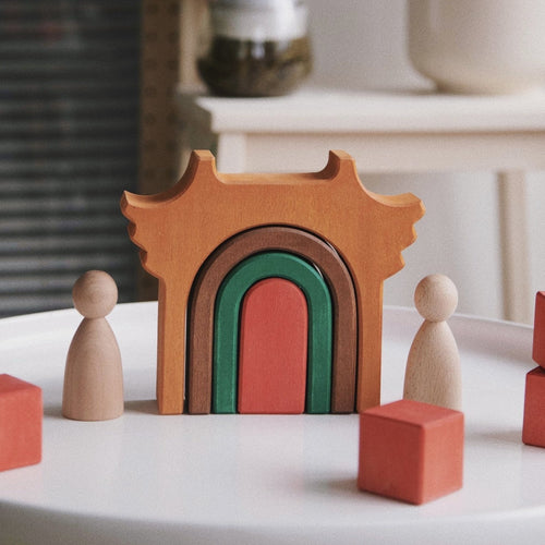 Avdar Tingzi Temple Arch Block Set - Wood Wood Toys Canada's Favourite Montessori Toy Store