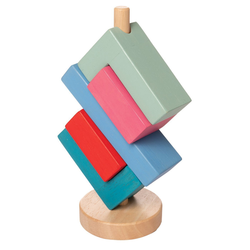 Bam Stack-a-Lacka Stacker by Manhattan Toy - Wood Wood Toys Canada's Favourite Montessori Toy Store