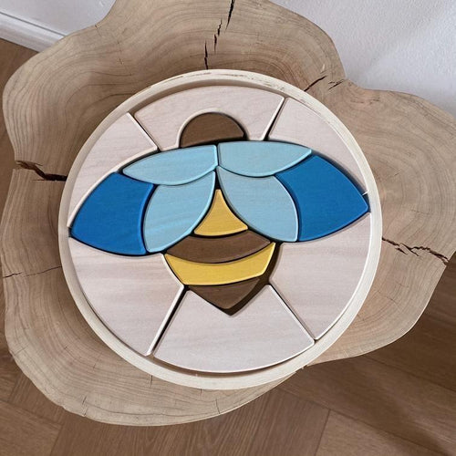 Bee Puzzle Block Set by Avdar - Wood Wood Toys Canada's Favourite Montessori Toy Store