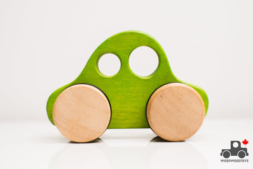 BeginAgain Push-Along Car - Wood Wood Toys Canada's Favourite Montessori Toy Store