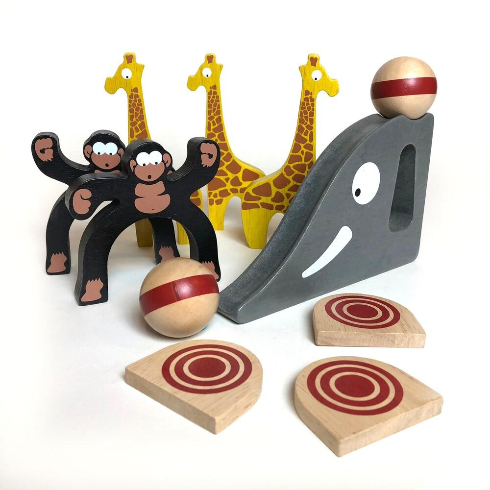 BeginAgain Toys Safari Bowl - Bowling Game for Toddlers - Wood Wood Toys Canada's Favourite Montessori Toy Store