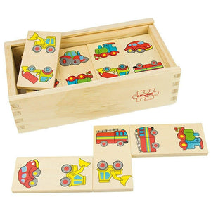 Bigjigs Toys Transport Dominoes - Wood Wood Toys Canada's Favourite Montessori Toy Store