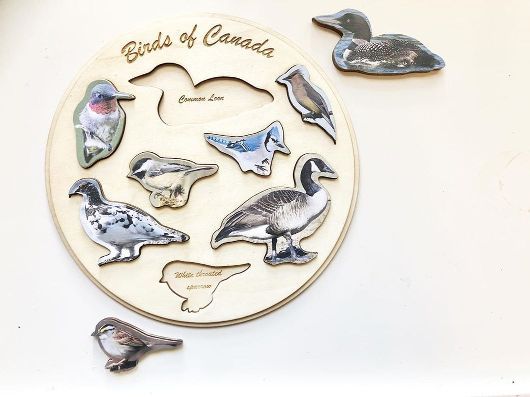 Birds of Canada Handmade Puzzle by Wood Wood Toys - Wood Wood Toys Canada's Favourite Montessori Toy Store