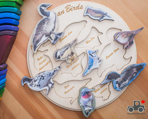 Birds of Canada Handmade Wood Wood Exclusive Puzzle - Wood Wood Toys Canada's Favourite Montessori Toy Store