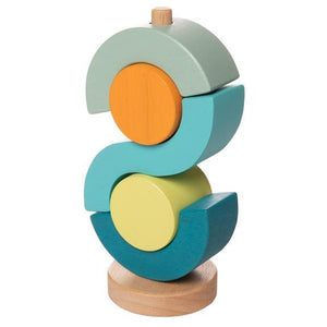Boom Shock-a-Locka Stacker by Manhattan Toy - Wood Wood Toys Canada's Favourite Montessori Toy Store