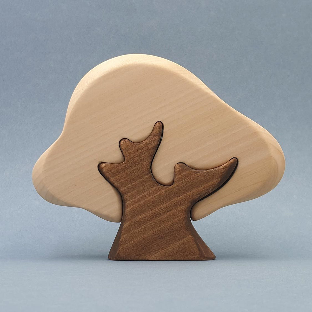 Brin d'Ours Handmade 2 Piece Oak Tree - Wood Wood Toys Canada's Favourite Montessori Toy Store