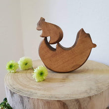 Load image into Gallery viewer, Brin d'Ours Handmade Bear Hug Puzzle - Wood Wood Toys Canada's Favourite Montessori Toy Store