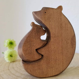 Brin d'Ours Handmade Bear Hug Puzzle - Wood Wood Toys Canada's Favourite Montessori Toy Store