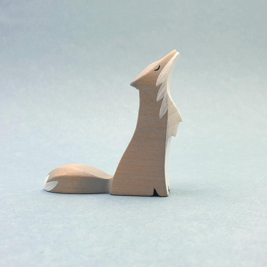 Brin d'Ours Handmade Howling Wolf - Wood Wood Toys Canada's Favourite Montessori Toy Store
