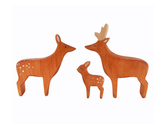 Brin d'Ours Handmade Wooden Deer - Wood Wood Toys Canada's Favourite Montessori Toy Store