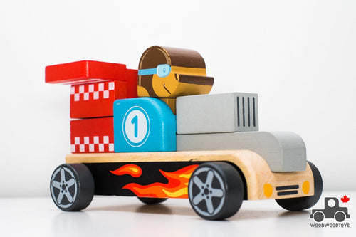 Build and Stack Wooden Racing Car - Wood Wood Toys Canada's Favourite Montessori Toy Store