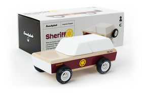 Candylab Lone Sheriff - Modern Vintage Toy Truck - Wood Wood Toys Canada's Favourite Montessori Toy Store