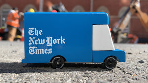 Candylab New York Times Delivery Van - Wood Wood Toys Canada's Favourite Montessori Toy Store