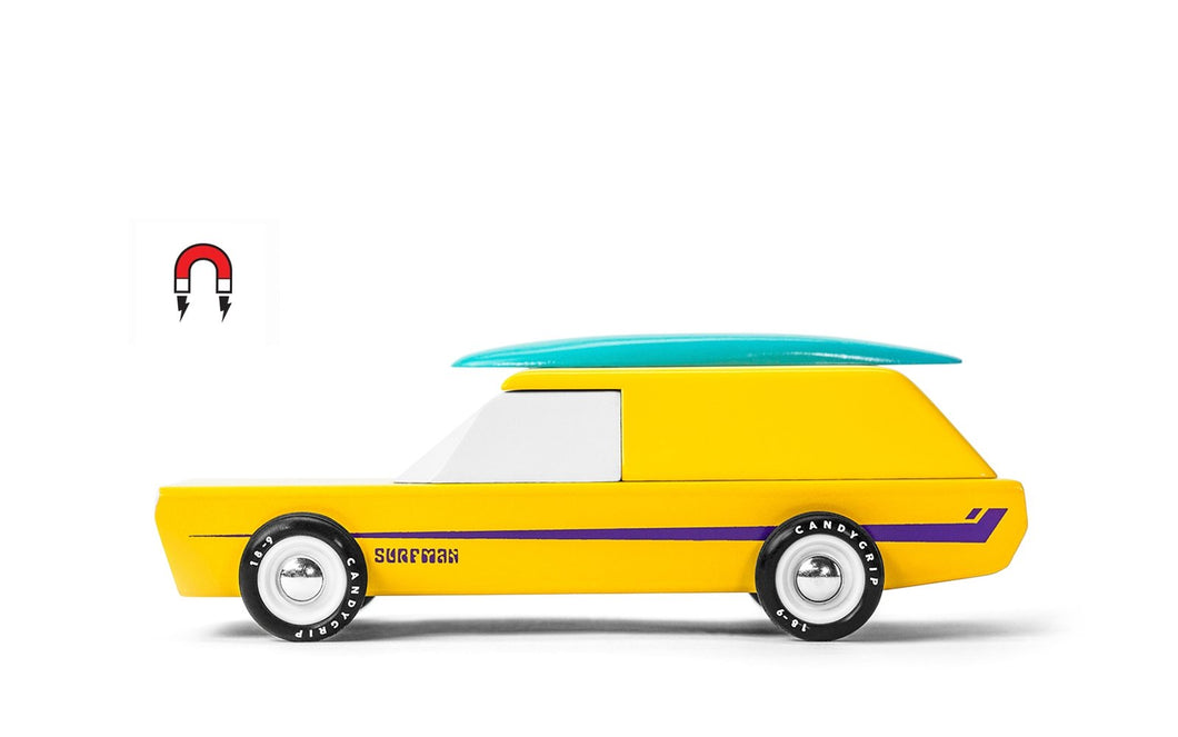 Candylab Toys Americana Surfman - Modern Vintage Beach Wagon - Wood Wood Toys Canada's Favourite Montessori Toy Store