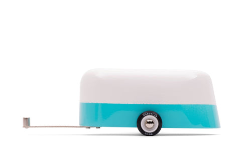 Candylab Toys Blue Camper - Modern Vintage Travel Trailer - Wood Wood Toys Canada's Favourite Montessori Toy Store