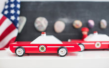 Load image into Gallery viewer, Candylab Toys Fire Chief - Modern Vintage Emergency Vehicle - Wood Wood Toys Canada's Favourite Montessori Toy Store