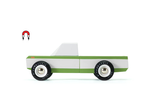 Candylab Toys Olive Longhorn - Modern Vintage Pickup Truck - Wood Wood Toys Canada's Favourite Montessori Toy Store