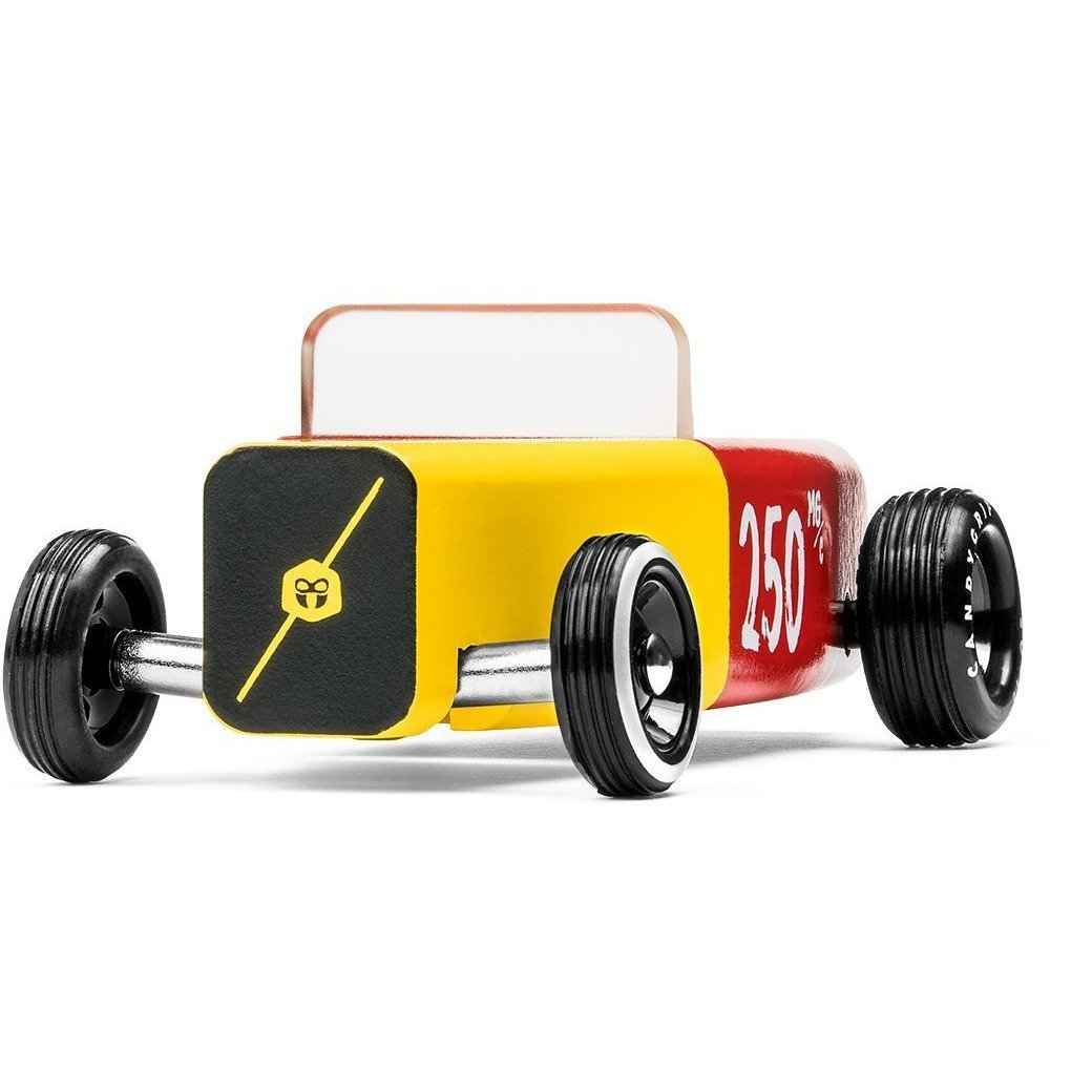 Candylab Toys Penicillin Outlaw - Modern Vintage Hot Rod - Wood Wood Toys Canada's Favourite Montessori Toy Store