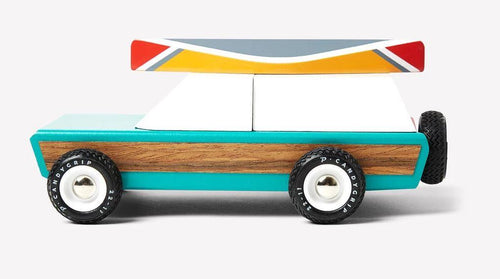 Candylab Toys Pioneer Aspen with Canoe - Modern Vintage Station Wagon - Wood Wood Toys Canada's Favourite Montessori Toy Store