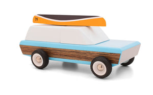 Candylab Toys Pioneer Classic with Canoe - Modern Vintage Station Wagon - Wood Wood Toys Canada's Favourite Montessori Toy Store