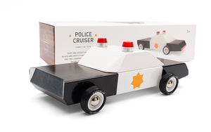 Candylab Toys Police Car - Modern Vintage Cruiser - Wood Wood Toys Canada's Favourite Montessori Toy Store