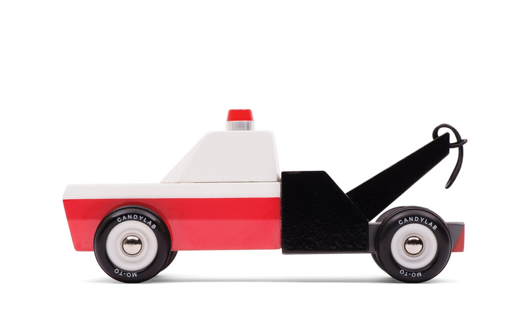 Candylab Toys Towie - Modern Vintage Tow Truck - Wood Wood Toys Canada's Favourite Montessori Toy Store