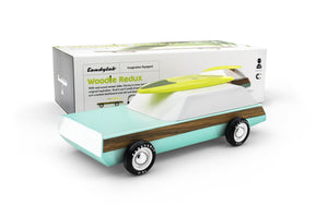 Candylab Toys Woodie Redux with Surfboard - Modern Vintage Station Wagon - Wood Wood Toys Canada's Favourite Montessori Toy Store