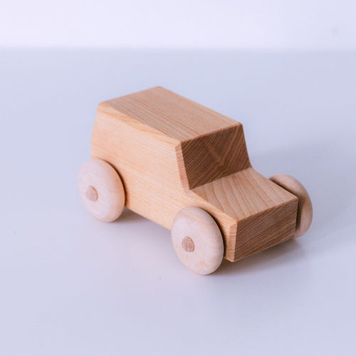 Classic Wooden Car by Avdar Toys - Wood Wood Toys Canada's Favourite Montessori Toy Store