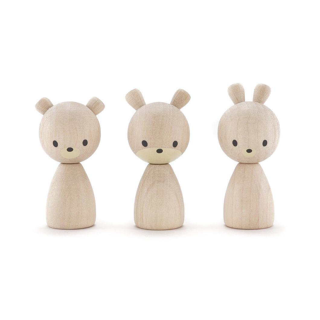CLiCQUES Magnetic FAUNA (Natural) - Robert, Ginger and Bunji - Wood Wood Toys Canada's Favourite Montessori Toy Store