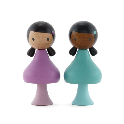 CLiCQUES Magnetic Figurines - Lola & Nuri - Wood Wood Toys Canada's Favourite Montessori Toy Store