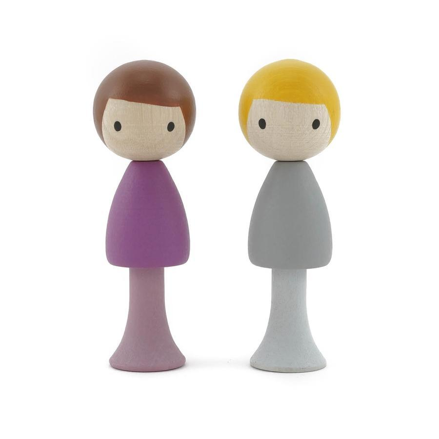 CLiCQUES Magnetic Figurines - Luca & Tom - Wood Wood Toys Canada's Favourite Montessori Toy Store