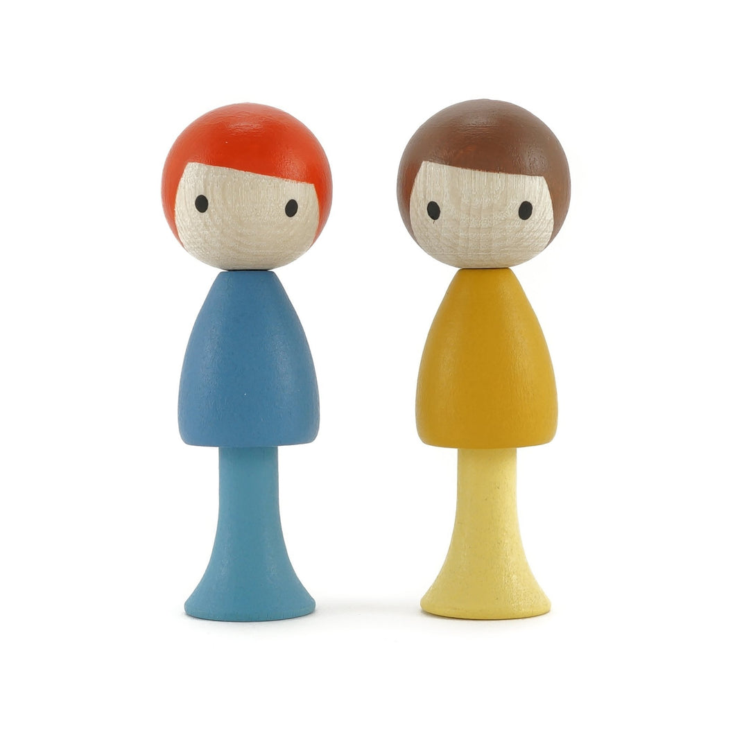 CLiCQUES Magnetic Figurines - Marco & Ben - Wood Wood Toys Canada's Favourite Montessori Toy Store