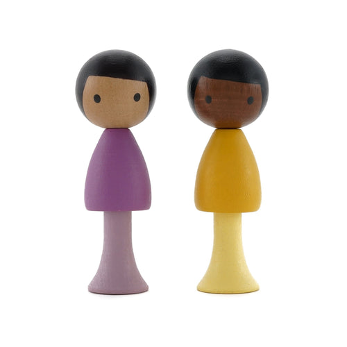 CLiCQUES Magnetic Figurines - Pablo & Leo - Wood Wood Toys Canada's Favourite Montessori Toy Store