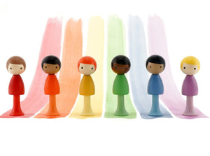 CLiCQUES Magnetic Figurines - RAINBOW Set (Andy, Rocco, Charles, Will, Riku & Paul) - Wood Wood Toys Canada's Favourite Montessori Toy Store