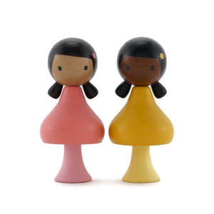 CLiCQUES Magnetic Figurines - Ruby & Coco - Wood Wood Toys Canada's Favourite Montessori Toy Store