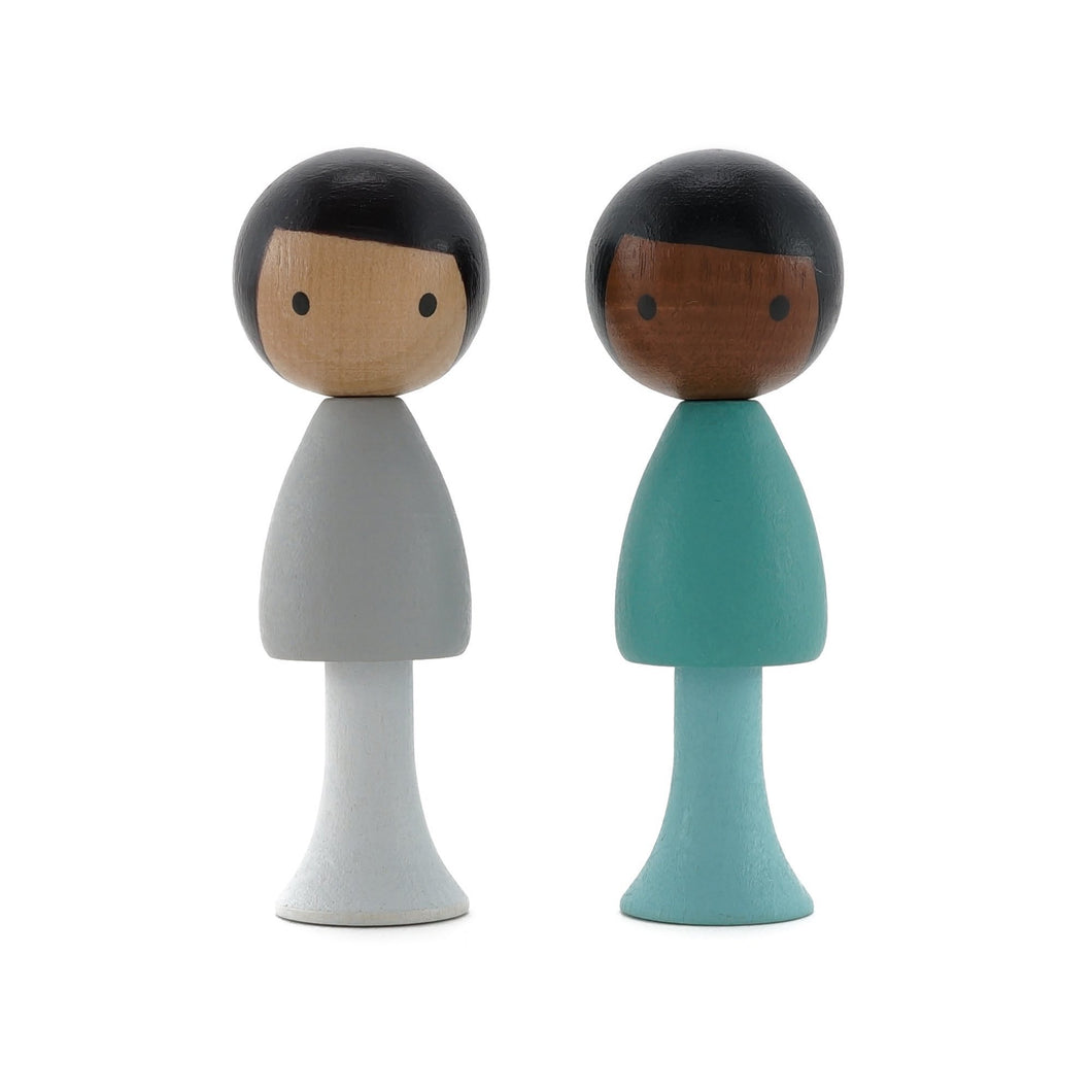 CLiCQUES Magnetic Figurines - Sam & Justin - Wood Wood Toys Canada's Favourite Montessori Toy Store
